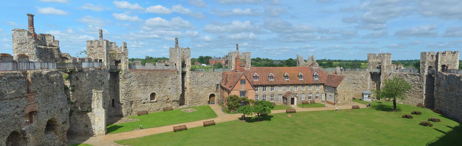 Framlingham Castle and poorhouse royalty free stock photography