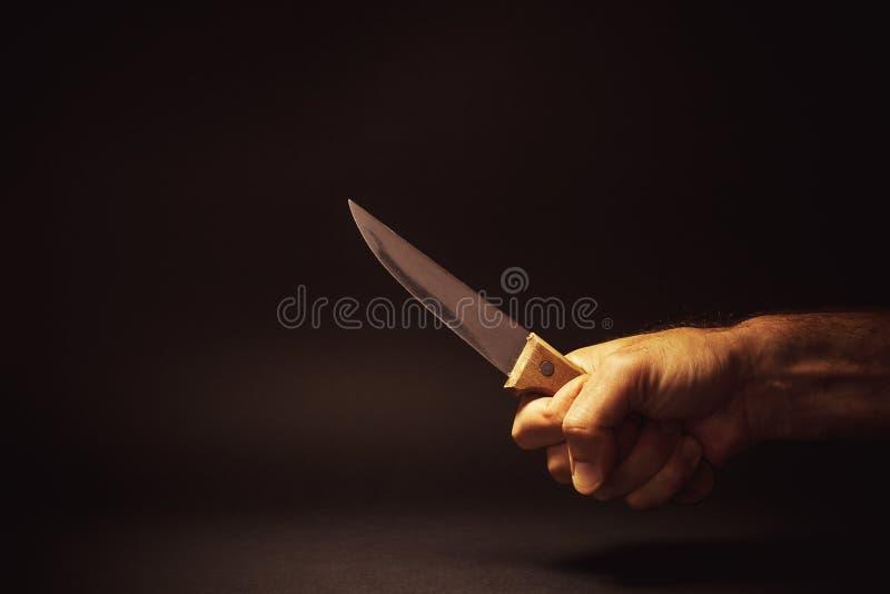 Framme av en kniv arkivfoton