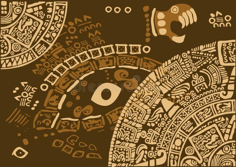 Frammento del calendario delle civilizzazioni antiche royalty illustrazione gratis