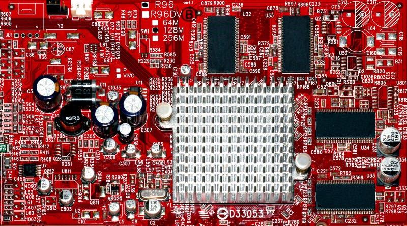 Frammento del circuito del sintonizzatore immagini stock libere da diritti