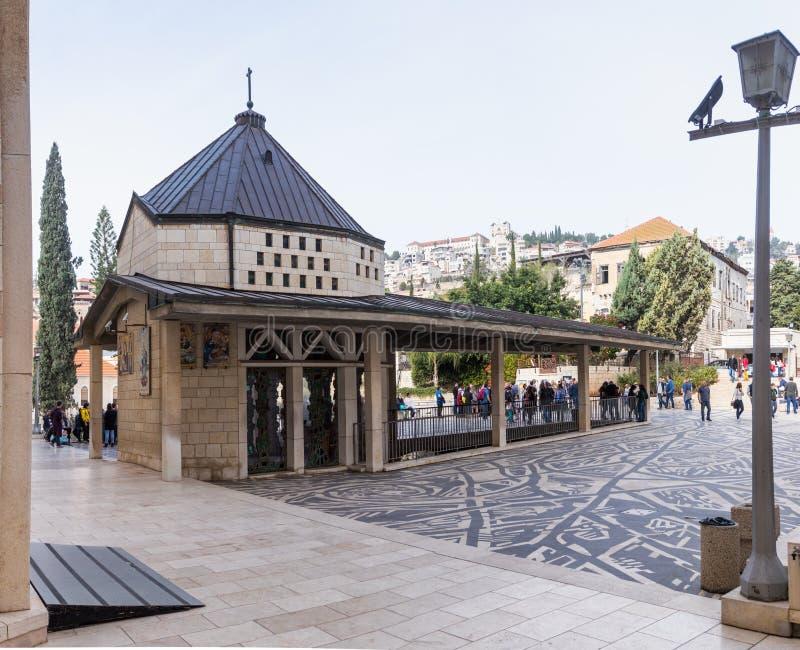 Frammento del cortile della basilica del inFragment di annuncio del cortile della basilica dell'annuncio nella t immagine stock libera da diritti