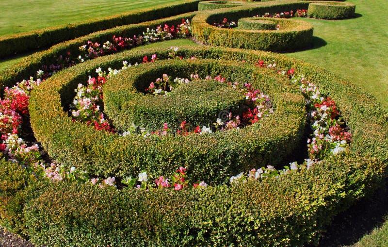 Frammento del giardino convenzionale immagine stock