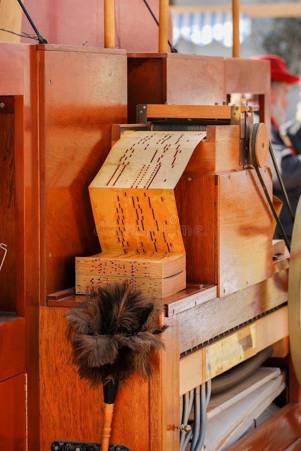 Frammento dell'organo di musica del barilotto della via fotografia stock