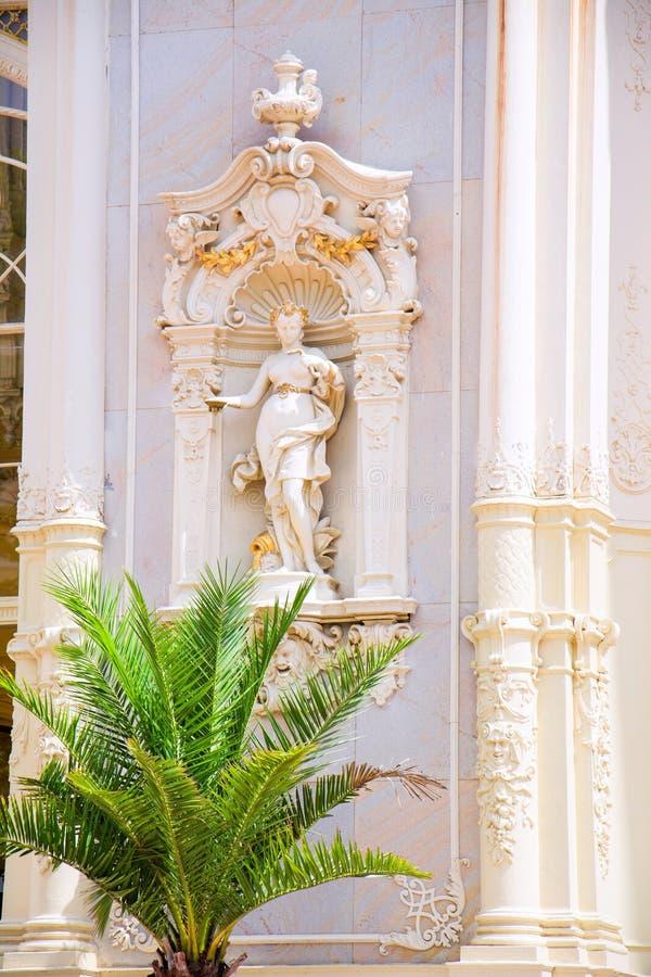 Frammento della decorazione della colonnato principale del ghisa - Marianske Lazne Marienbad - la repubblica Ceca fotografia stock libera da diritti