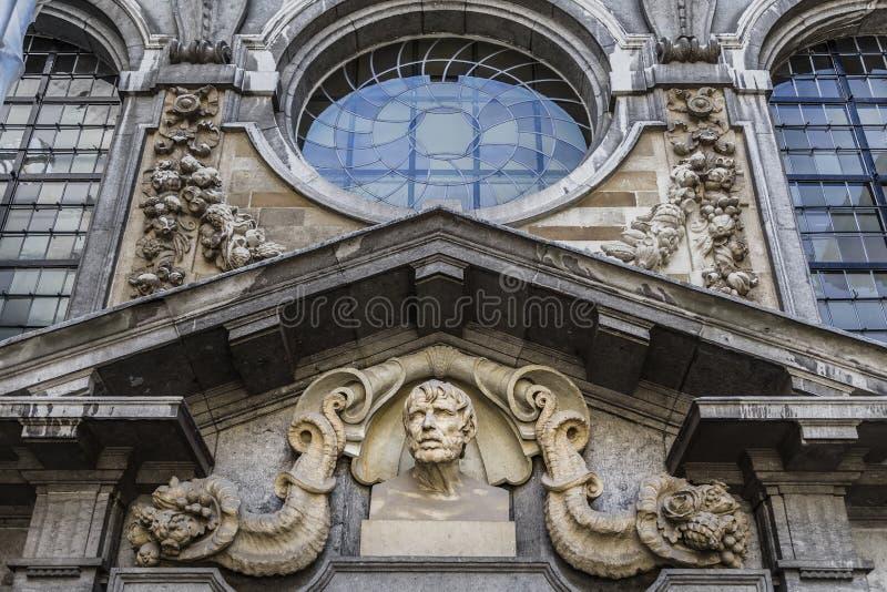 Frammento della facciata della casa di Rubens fotografie stock libere da diritti