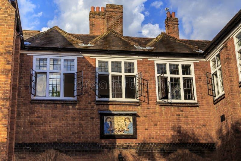 Frammento della facciata della scuola di musica dell'istituto universitario di Eton, Regno Unito fotografia stock libera da diritti