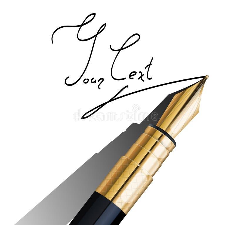 Frammento della penna di fontana illustrazione di stock