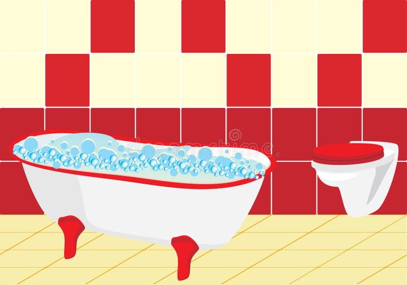 Frammento della stanza da bagno illustrazione vettoriale