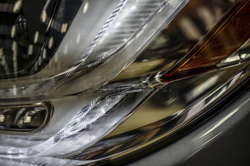 Frammento delle luci posteriori dell'automobile immagini stock