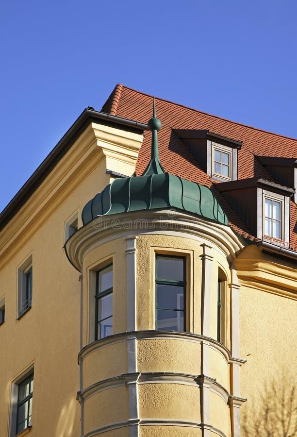 Frammento di costruzione a Regensburg bavaria germany fotografie stock libere da diritti