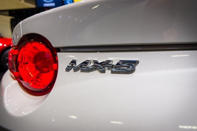 Frammento di un'automobile scoperta a due posti Mazda MX-5 immagini stock