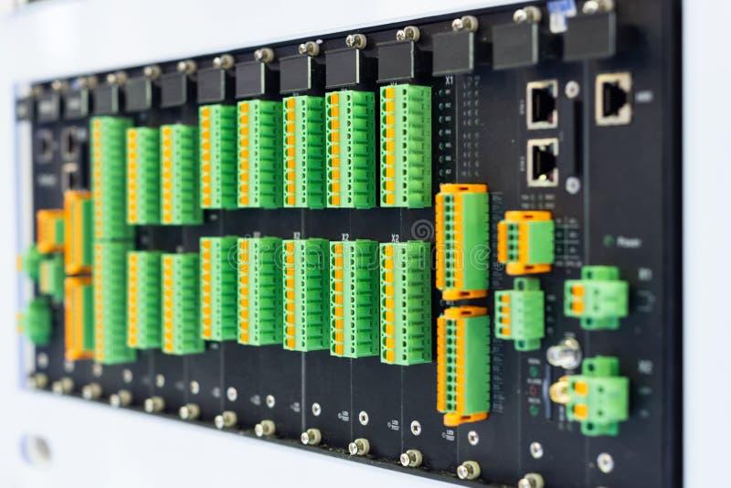 Frammento di un circuito del computer immagine stock