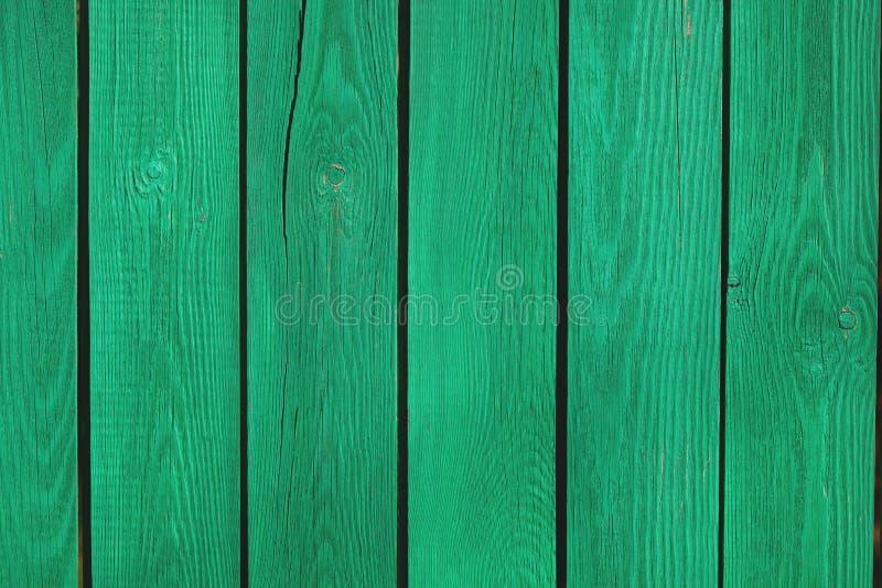 Frammento di vecchio recinto verde immagine stock libera da diritti