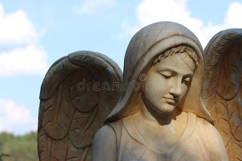 Framsida av en ängel arkivfoto