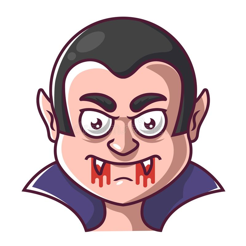 Framsida av en vampyr dracula vektor illustrationer