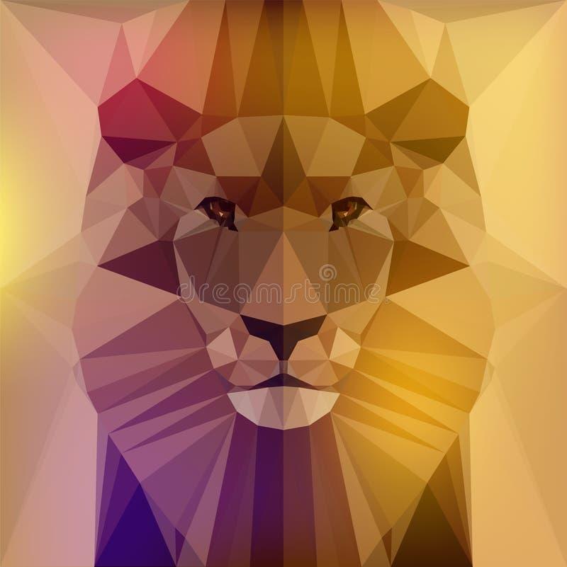 Framsida av ett lejon stock illustrationer