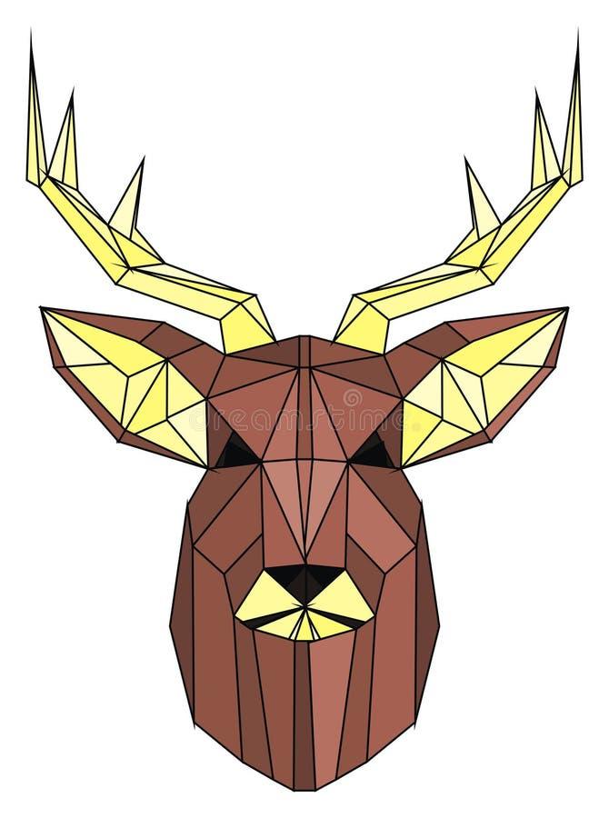 Framsida av hjortar stock illustrationer