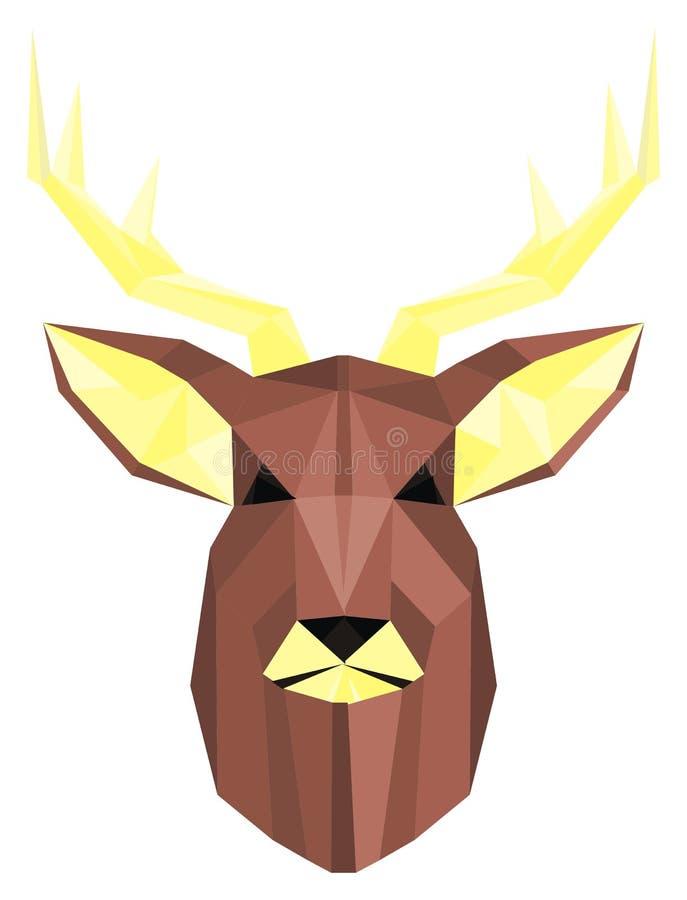 Framsida av hjortar royaltyfri illustrationer