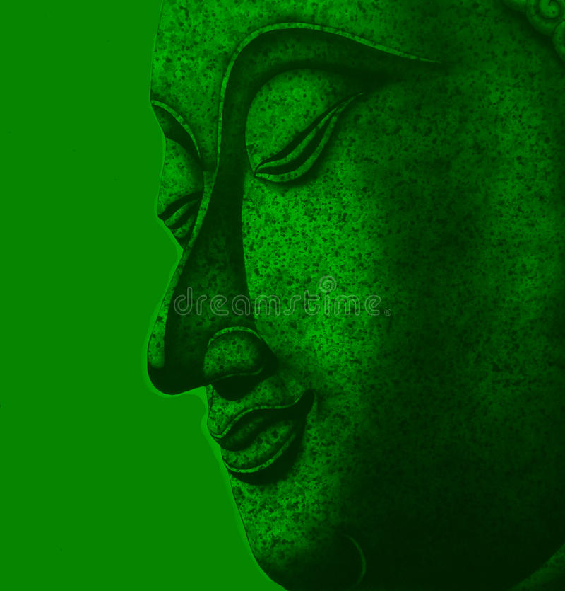 Framsida av meditationen för buddha illustrationmålning fotografering för bildbyråer