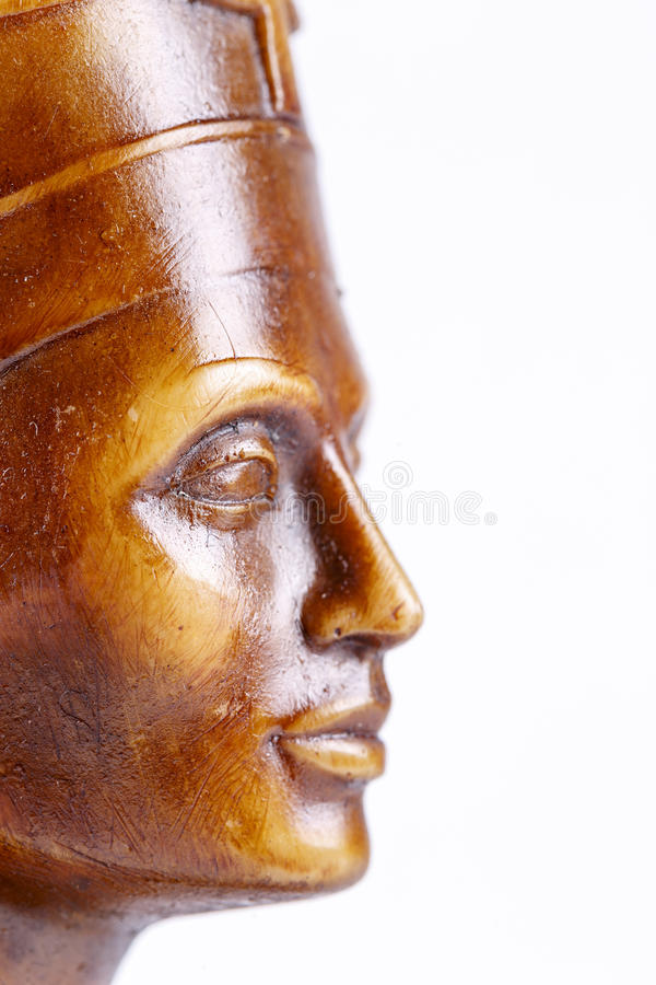 Framsida av trästatyn, farao royaltyfri fotografi