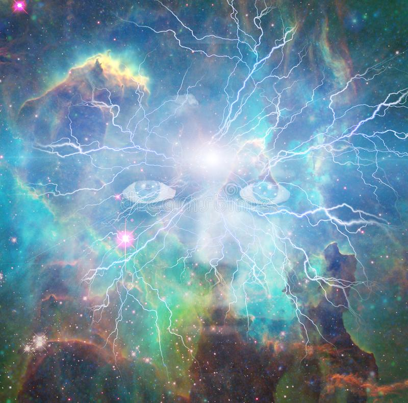 Framsida av universum vektor illustrationer