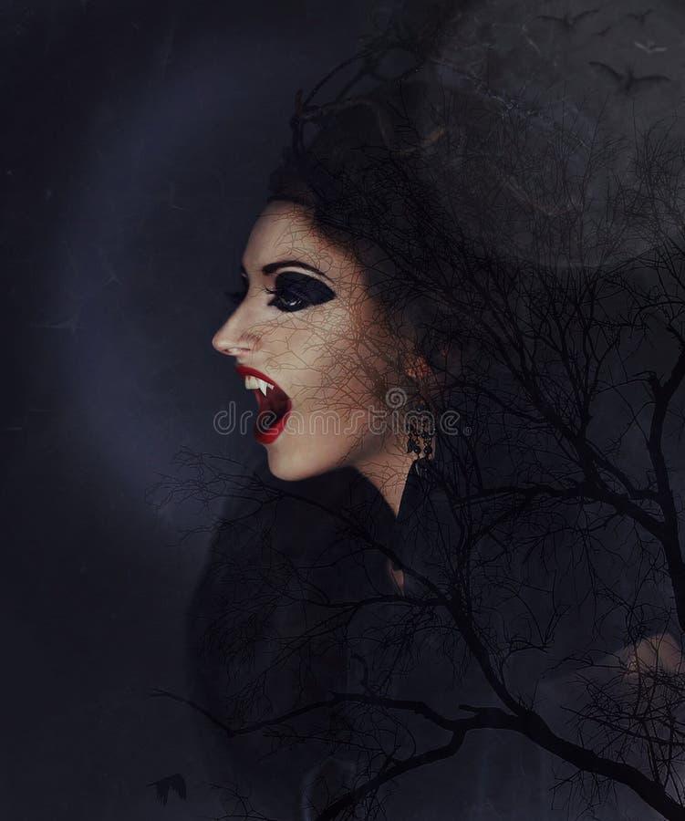 Framsida skönhet, huvud, mörker