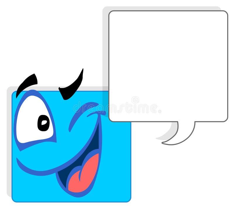 framsidafyrkant vektor illustrationer