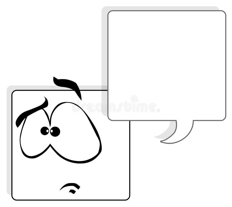 framsidafyrkant stock illustrationer