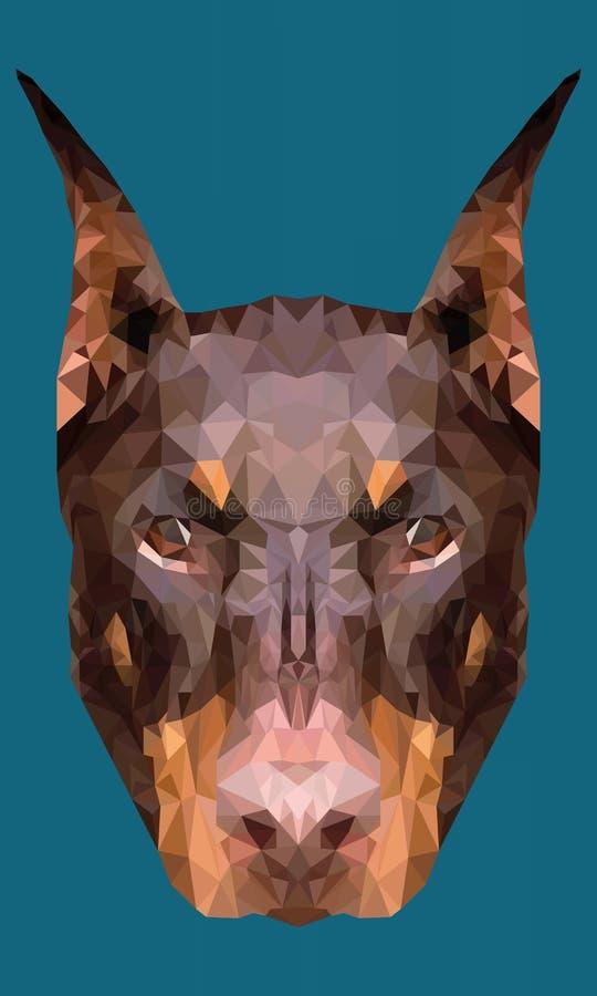 framsidahundpolygon stock illustrationer
