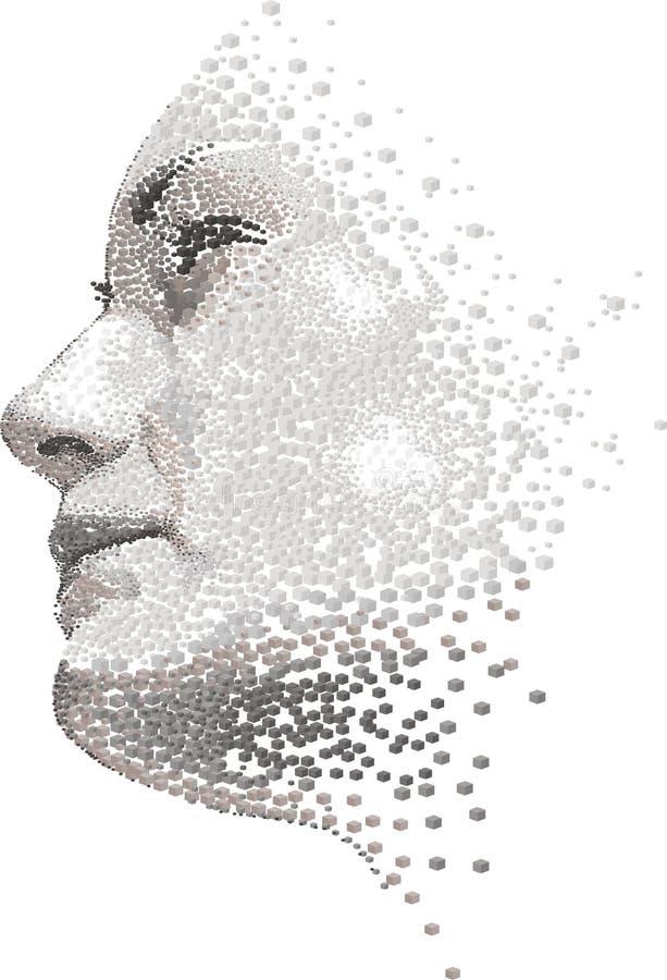 framsidakvinna vektor illustrationer
