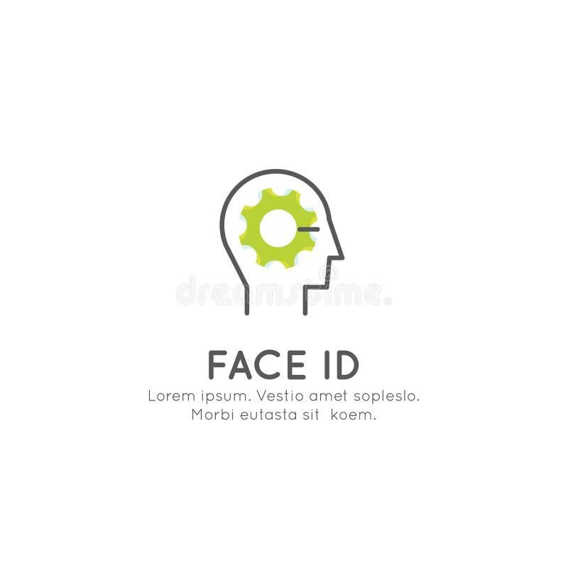 Framsidalegitimation, inloggning, erkännande som låser en apparat upp, Passcode stock illustrationer