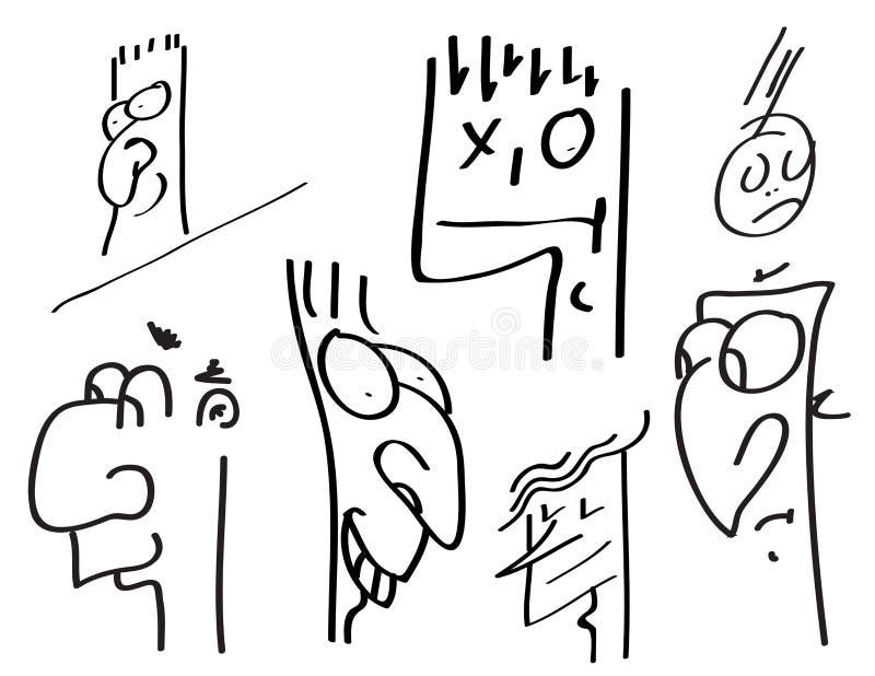 framsidor vektor illustrationer