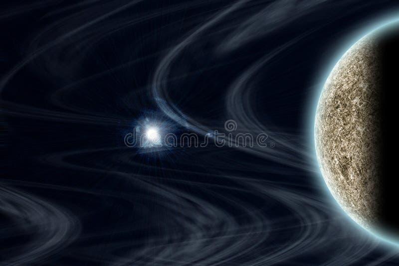 Framskriden planet och utrymme stock illustrationer