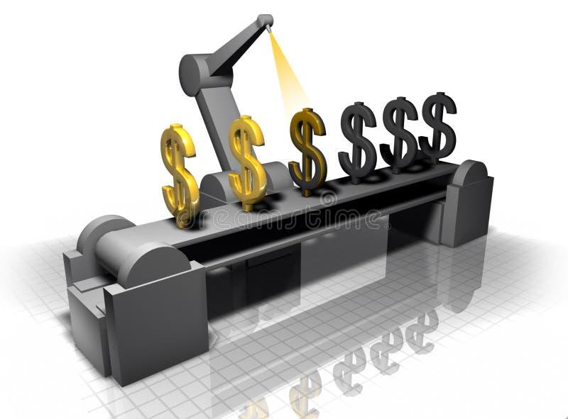 framställning av pengar stock illustrationer