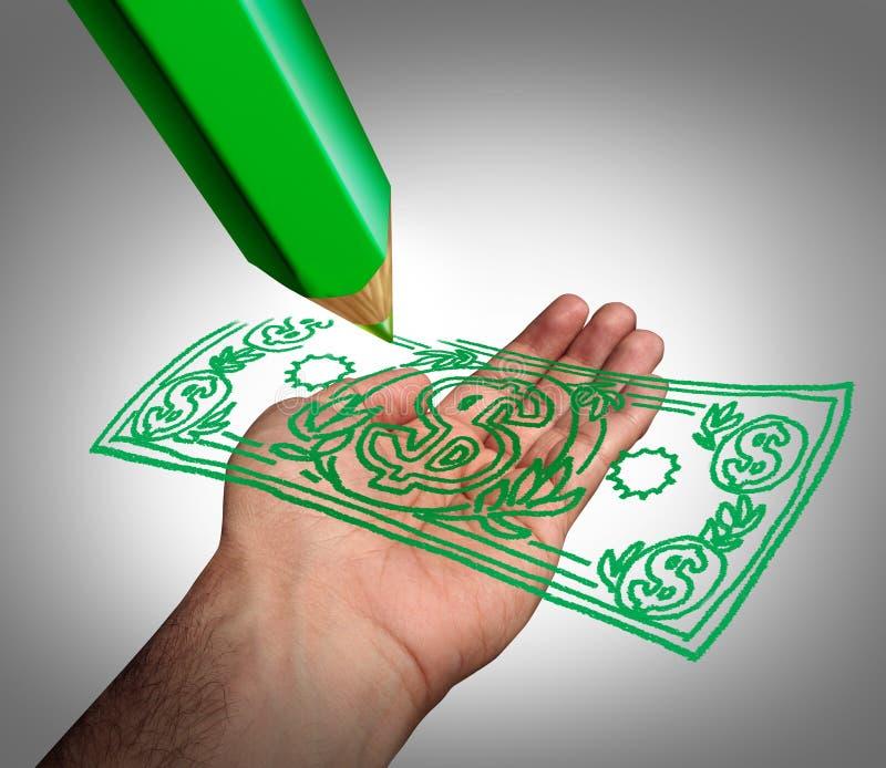 framställning av pengar royaltyfri illustrationer