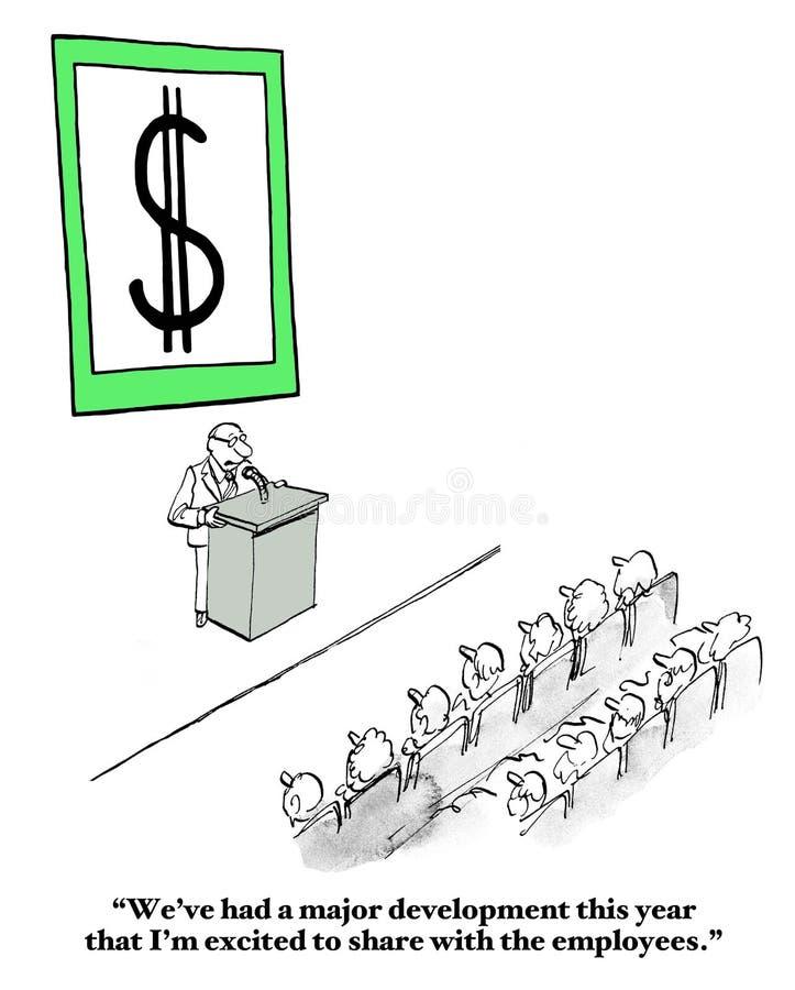 Framställning slutligen av pengar royaltyfri illustrationer