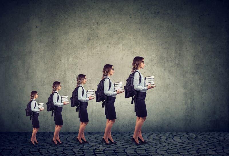 Framsteg i karriär- och yrkesutbildningtillväxtbegrepp royaltyfri bild