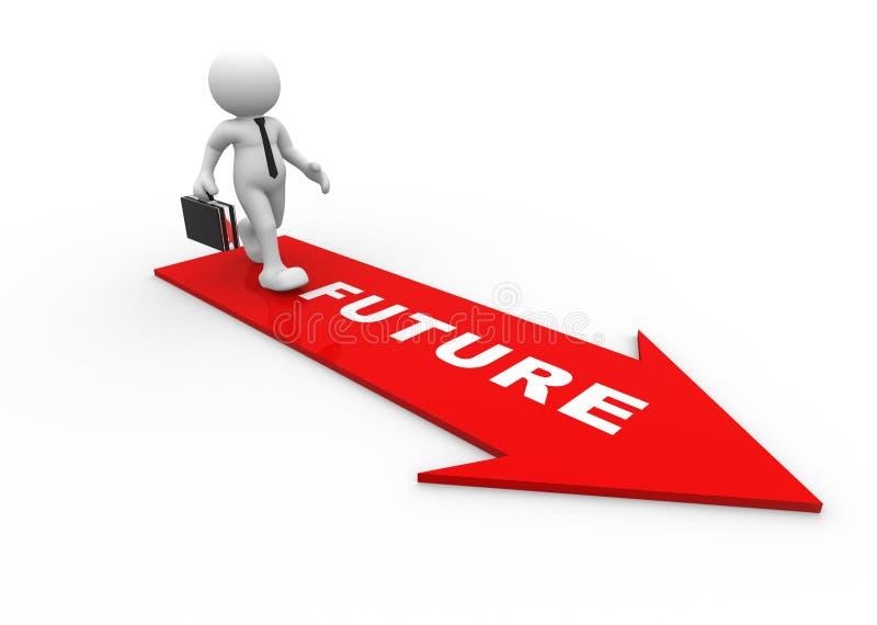 framtid stock illustrationer