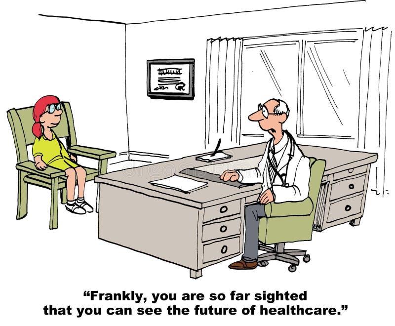 Framtid av sjukvården stock illustrationer