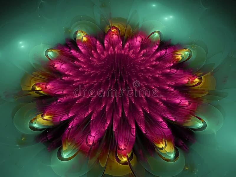 Framtid för inspiration för abstrakt blommafractalbakgrund härlig vektor illustrationer