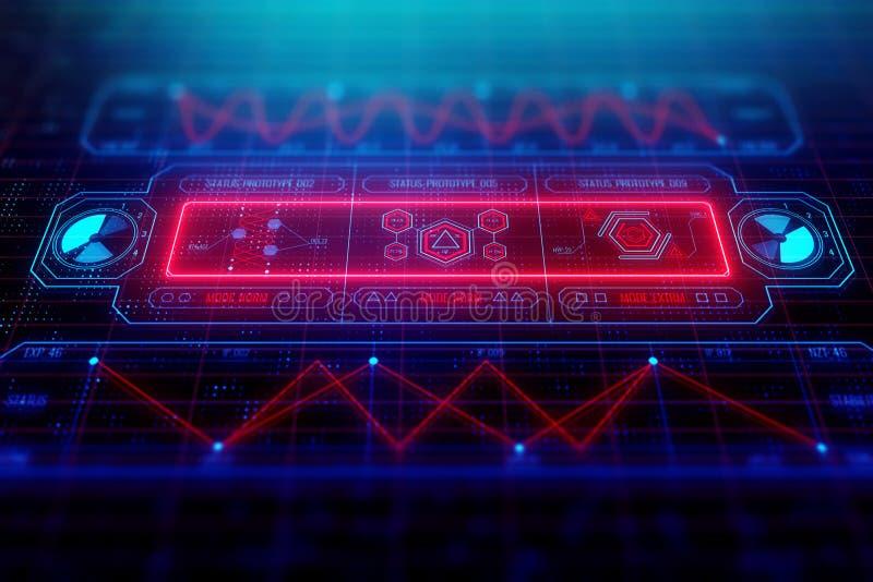 Framtid, innovation och futuristiskt begrepp vektor illustrationer