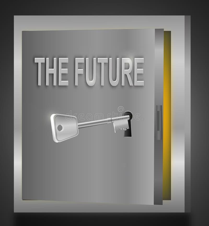framtid låser upp stock illustrationer