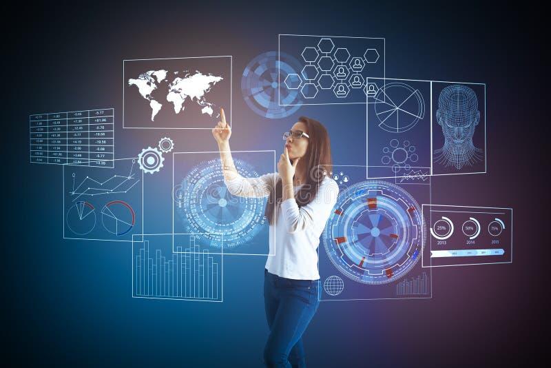 Framtid och nätverksbegrepp vektor illustrationer