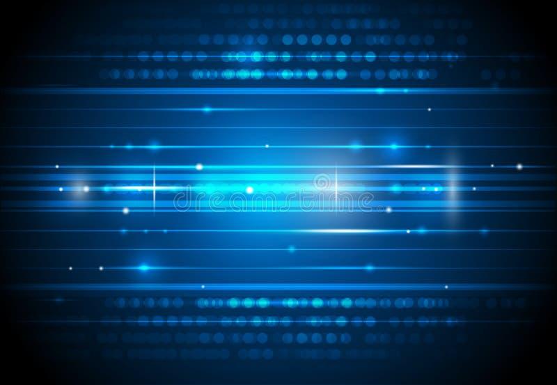 Framtida bakgrund för digital teknologi stock illustrationer