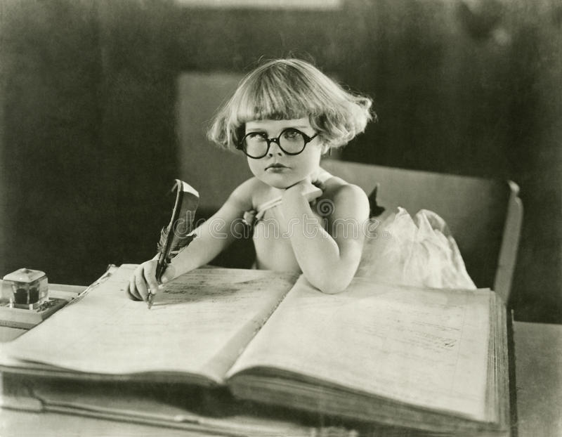 Framtida författare arkivbild