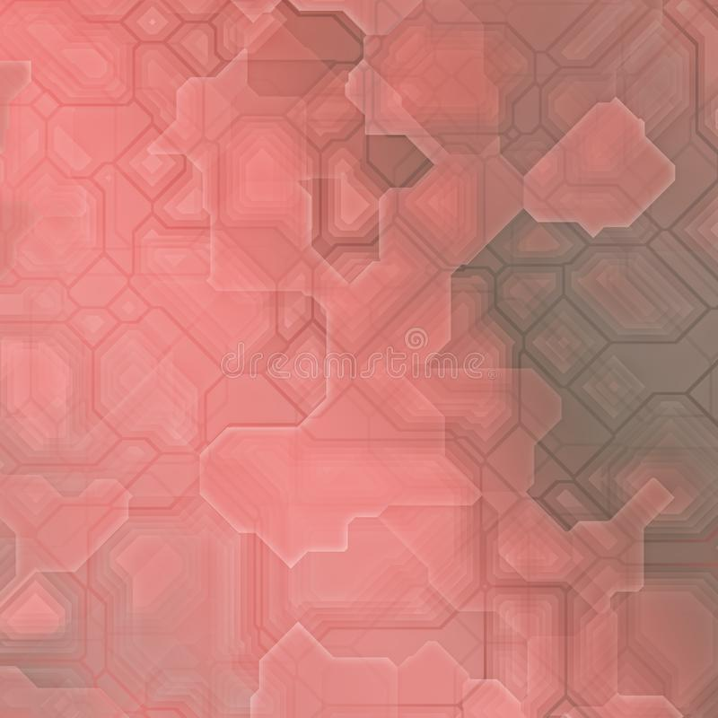 Framtida fantasi för terrakotta vektor illustrationer