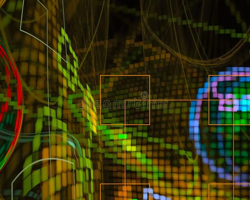 Framtida härlig grafisk krullningsmall för abstrakt fantasi, framtid, kort vektor illustrationer