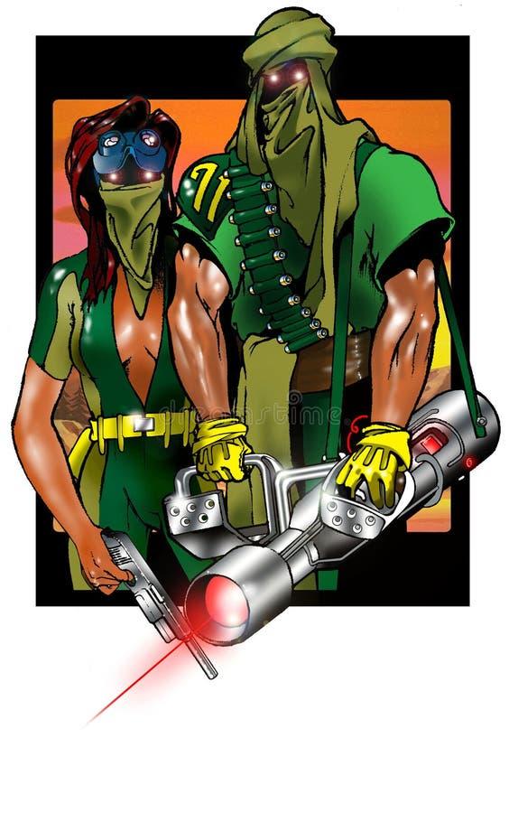 framtida krigare stock illustrationer