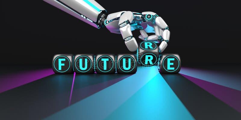 Framtida ljus f?r robothand vektor illustrationer