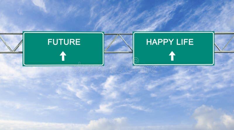 Framtida och lyckligt liv arkivfoton